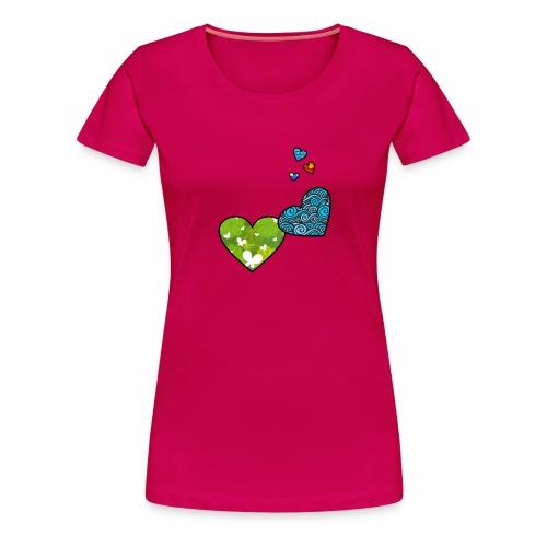 Herzchen - Frauen Premium T-Shirt