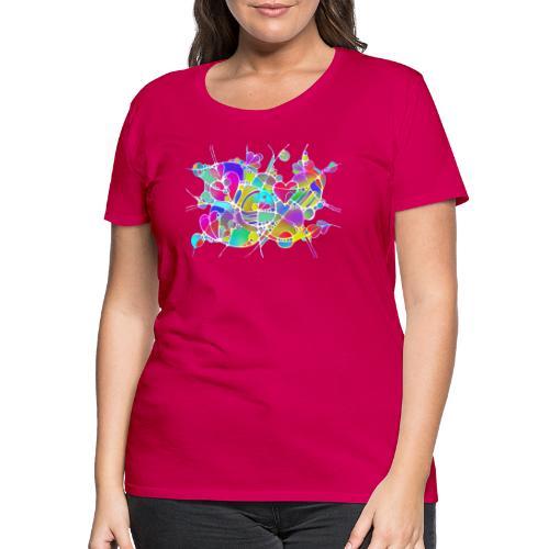 Abstrakte Kunst Neuro Art LOVE IS CRAZY 6 - Frauen Premium T-Shirt