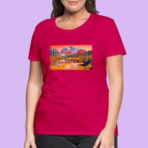 Montagne rosse punteggiate - Maglietta Premium da donna