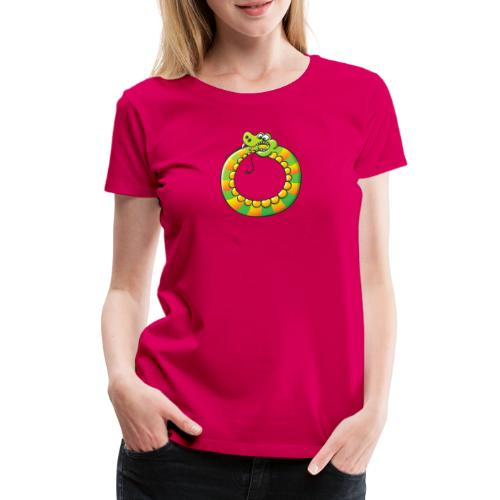 Crazy Snake Biting its own Tail - Women's Premium T-Shirt