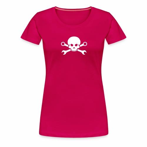 Skull'n'Tools Pirate Skull - Women's Premium T-Shirt