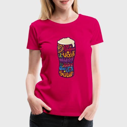Bière pression typographies colorées - T-shirt Premium Femme