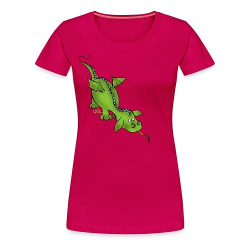 Neugierdrache - Frauen Premium T-Shirt