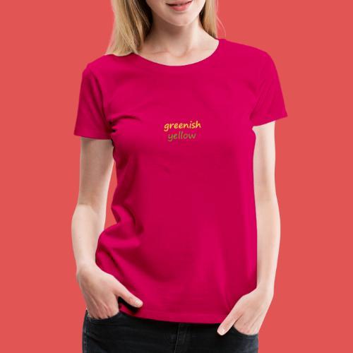 Green and Yellow - Camiseta premium mujer