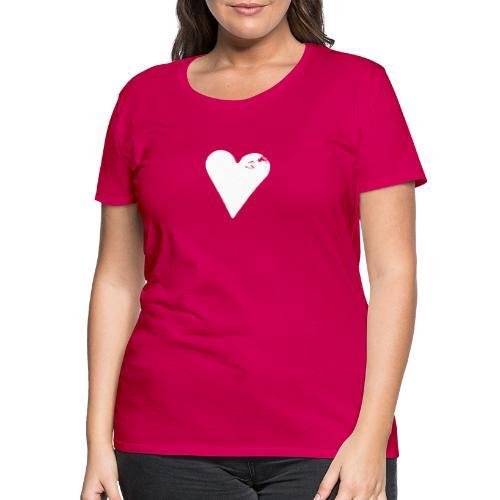 Prinsessehjerte (potettrykk) - Premium T-skjorte for kvinner