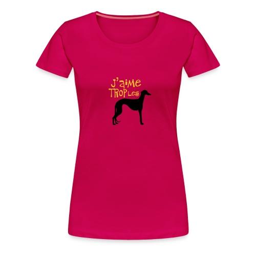 Galgo Gemtro - T-shirt Premium Femme