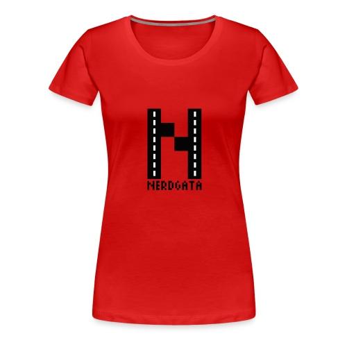 nerdgata logo PNG - Premium T-skjorte for kvinner