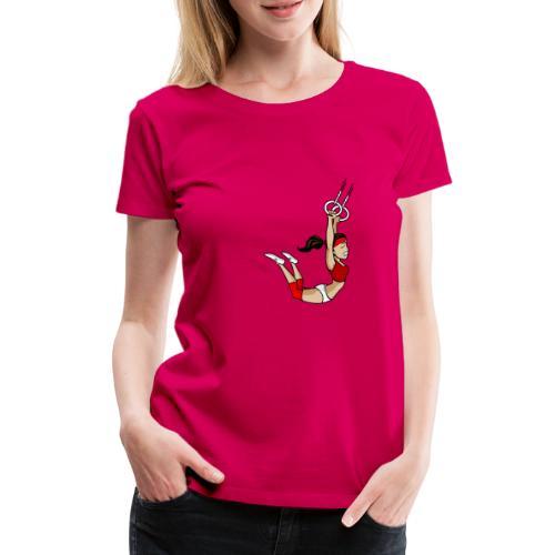 The flying girl - Frauen Premium T-Shirt