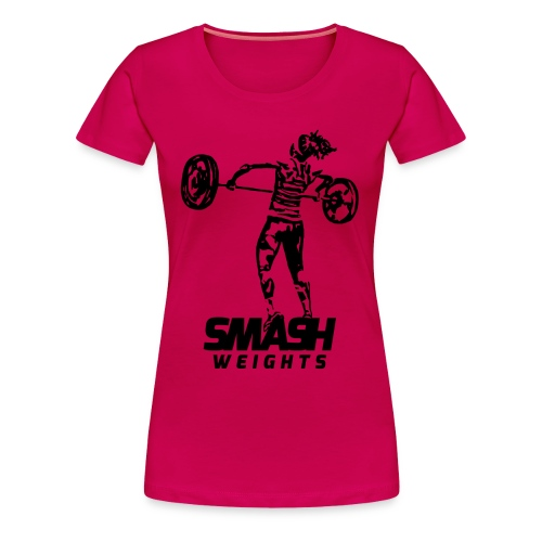 SmashWeightsWoman png - Women's Premium T-Shirt