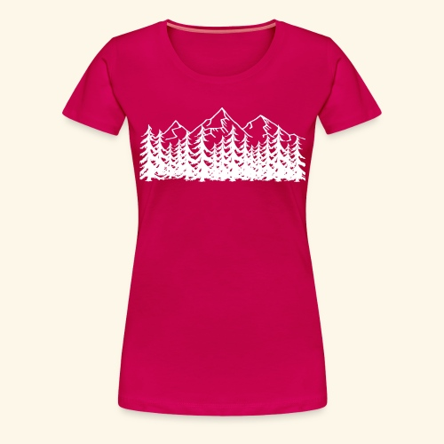 Berge Wälder weiß Mountains Woods - Frauen Premium T-Shirt