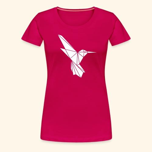 White Hummingbird weißer Kolibri aus Dreiecken - Frauen Premium T-Shirt