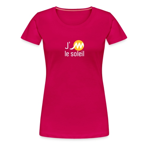 jMsoleilblancjaune - T-shirt Premium Femme