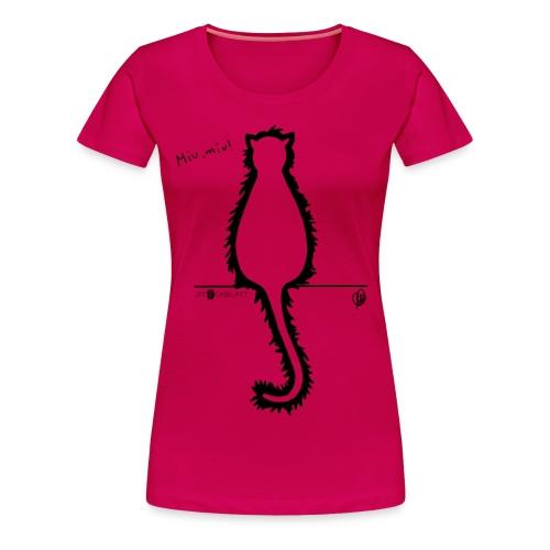 Thyrrin Hexenkater, Silhouette (schwarz) - Frauen Premium T-Shirt