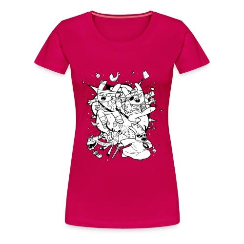 ActionBunniesShirt png - Women's Premium T-Shirt
