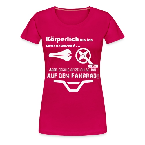 Beim Fahrrad Fahren - Frauen Premium T-Shirt