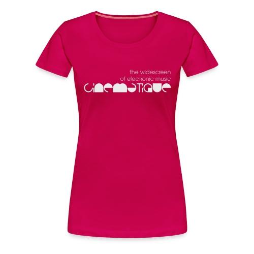 CIN widescreen white - Women's Premium T-Shirt