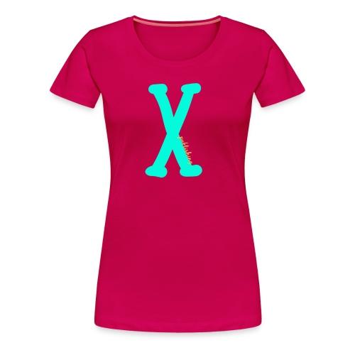 X logga - Premium-T-shirt dam