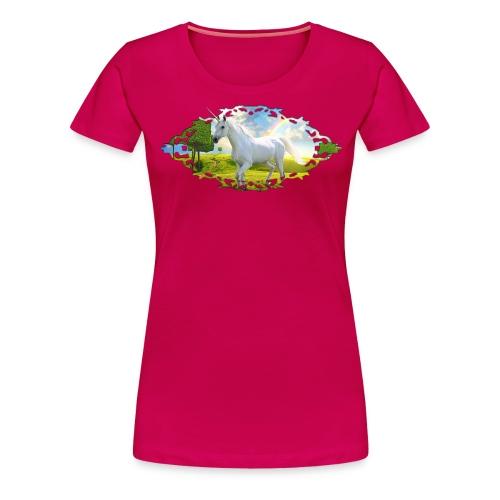 Unicorn Framed Landscape - Vrouwen Premium T-shirt