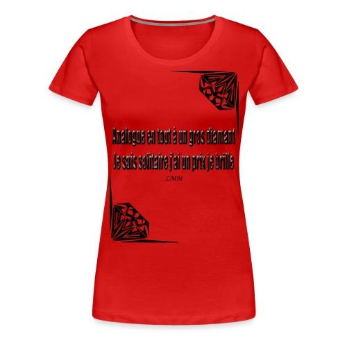 Solitaire black png - T-shirt Premium Femme