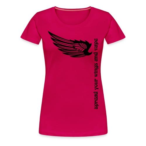 wingsandvape png - T-shirt Premium Femme