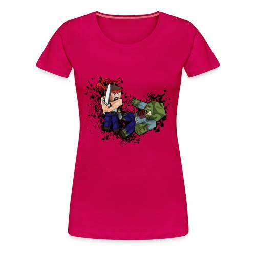 Hero vs Zombie no blood - Women's Premium T-Shirt