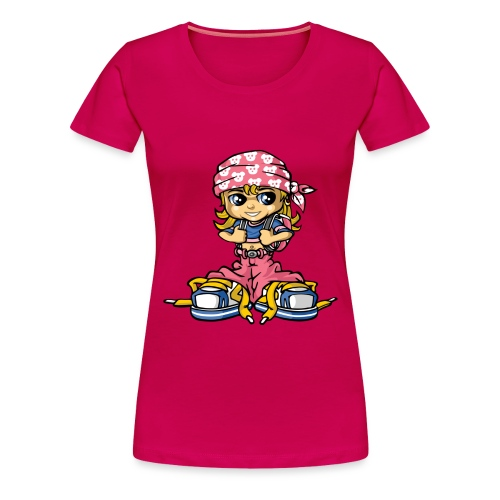 hip-hop girl and bandana - Frauen Premium T-Shirt