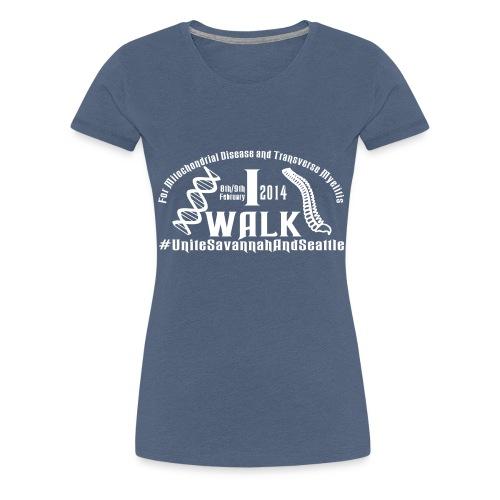 i walk vect - Women's Premium T-Shirt