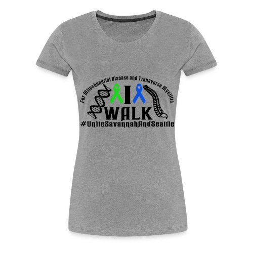 walk ribbons - Women's Premium T-Shirt