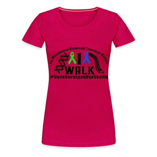 walk ribbons - Women's Premium T-Shirt