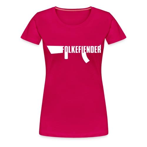 folkefiender spreadshirt 03 - Premium T-skjorte for kvinner