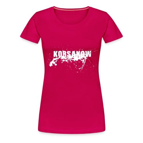 splatter white - Frauen Premium T-Shirt