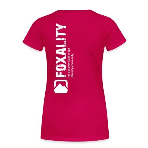 Climbing Community FOXALITY - Frauen Premium T-Shirt