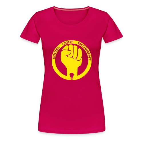 social light movement yellow hand - Women's Premium T-Shirt