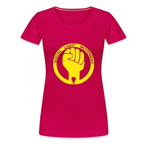 social light movement yellow hand - Women's Premium T-Shirt