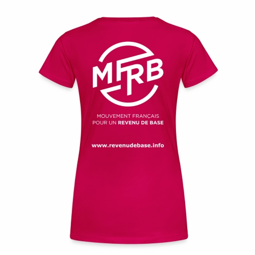 Logo MFRB blanc big png - T-shirt Premium Femme