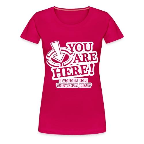 bbb_youarehere_shirt - Women's Premium T-Shirt
