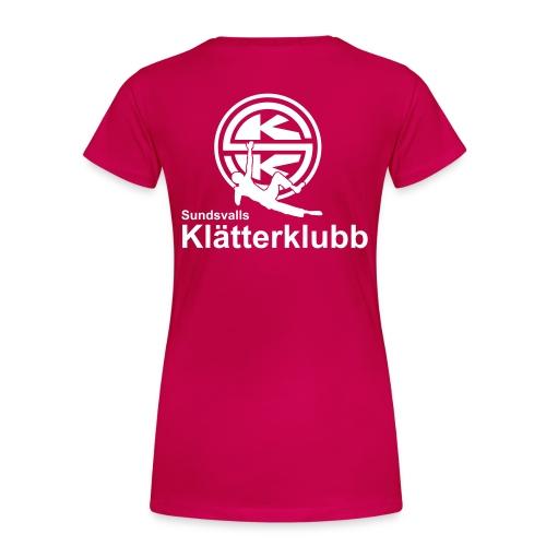 SKK_logga_vertical - Premium-T-shirt dam