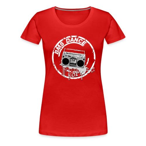 BMS Dance grey - Vrouwen Premium T-shirt