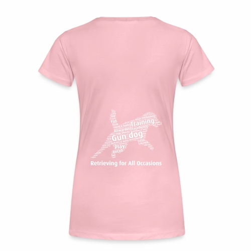 Retrieving for All Occasions wordcloud vitt - Premium-T-shirt dam