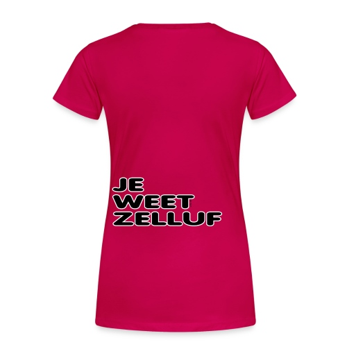 Kids hoodedsweater Je weet zelluf - Vrouwen Premium T-shirt