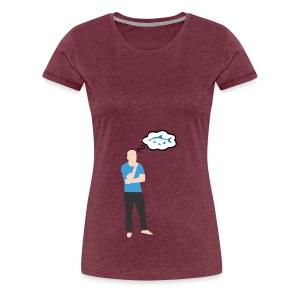 Man i tankar: Fisk - Premium-T-shirt dam