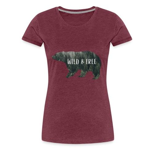Wild & Free Bär - Frauen Premium T-Shirt