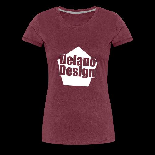 DelanoDesign - Logo Wit - Vrouwen Premium T-shirt