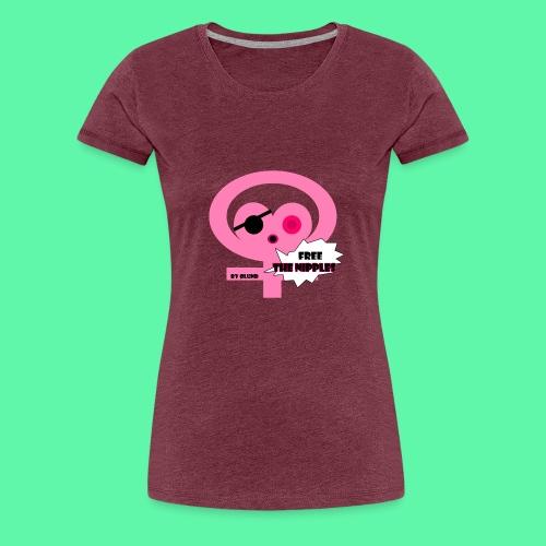 Free the nipples - Dame premium T-shirt