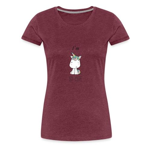 CUTE UNI - Camiseta premium mujer