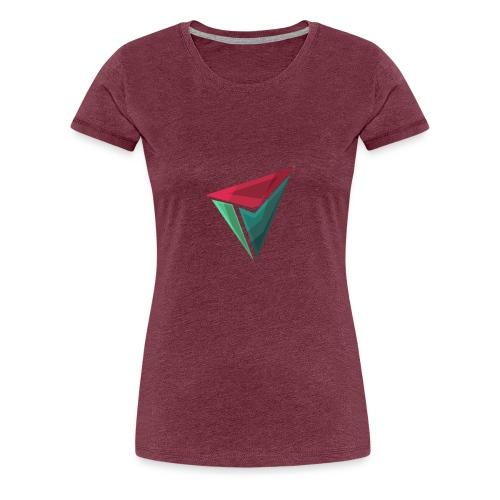 90gQopen T-Shirt | Logga Färg - Premium-T-shirt dam