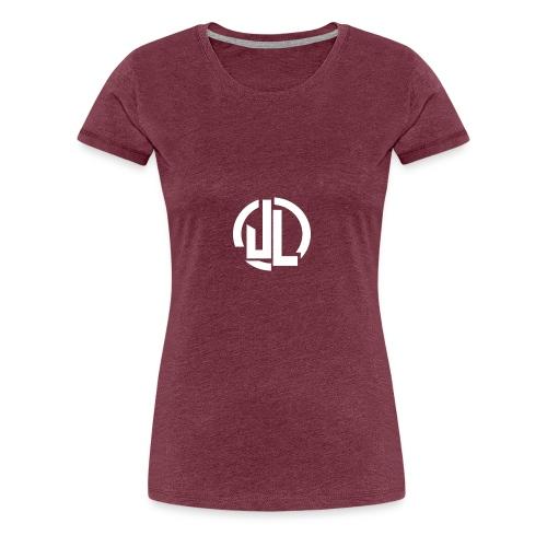 The White JL Logo - Women's Premium T-Shirt