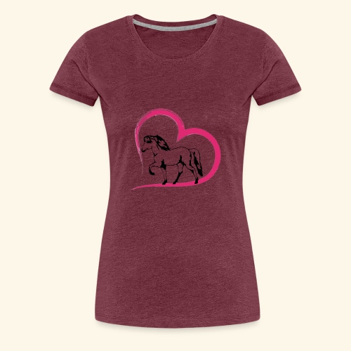 Herz-Tölter - Frauen Premium T-Shirt