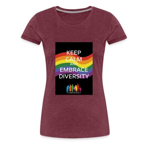T-shirt, tonåring, embrace diversity - Premium-T-shirt dam