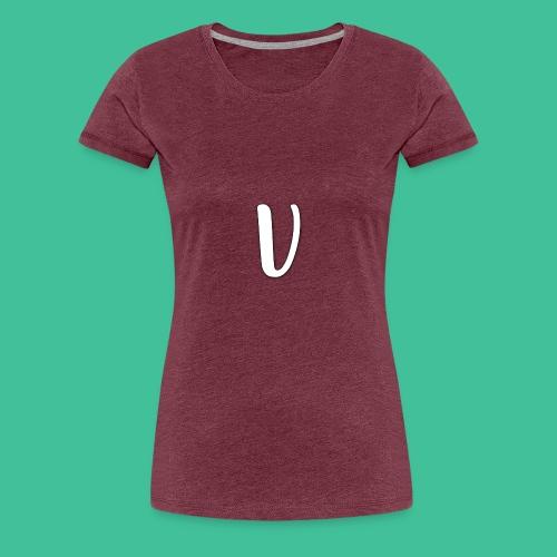 Velosity V Icon - T-Shirt Washed Burgundy Clr - Women's Premium T-Shirt